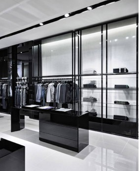 High End Wood Retail Clothing Shop Display