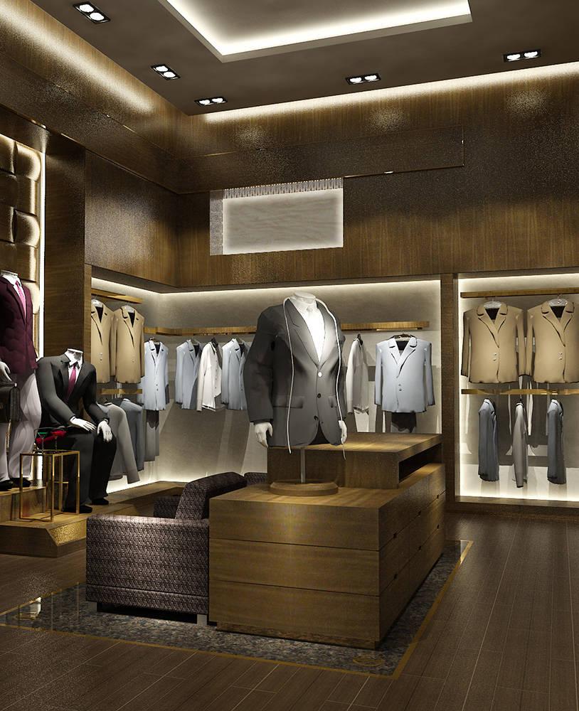 Retail Modern Clothing Store Display Racks Spark Retail