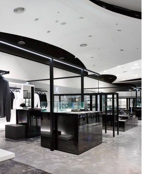 High End Wood Clothing Shop Display Furniture