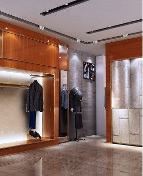 High End Wood Clothing Shops Display Stands