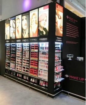 High End Custom Cosmetic Display Retail