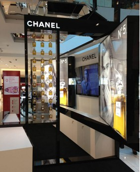 High End Custom Cosmetic Store Floor Display Stand