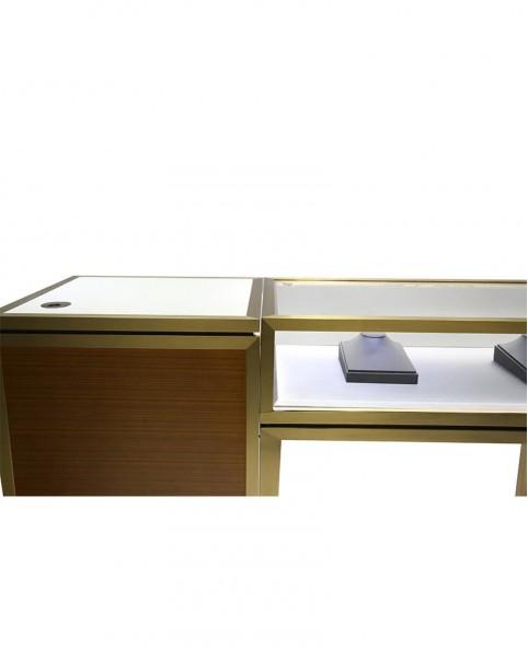 High End Luxury Custom Jewelry Glass Display Showcases For Jewelry Shop