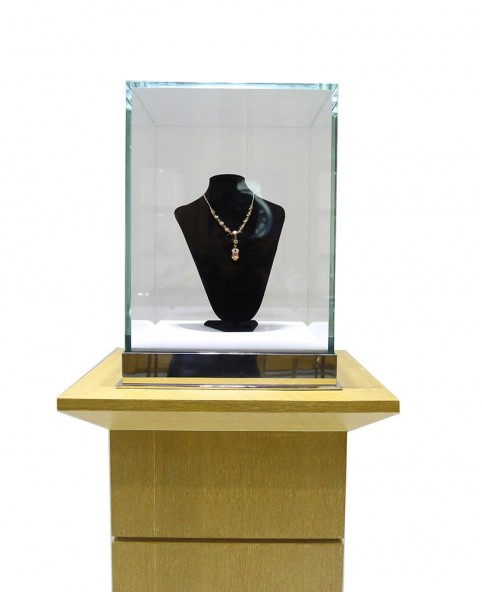 High End Luxury Custom Jewelry  Pedestal Display Showcases