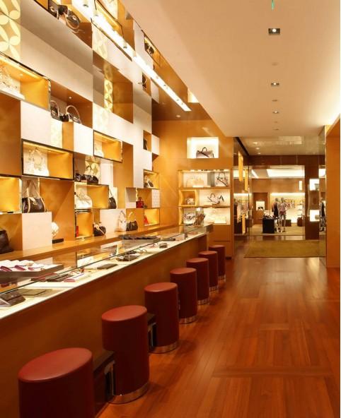 High End Wood Handbag Display Stands
