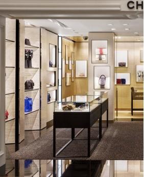 High End Wood Handbag Display Shelf Design