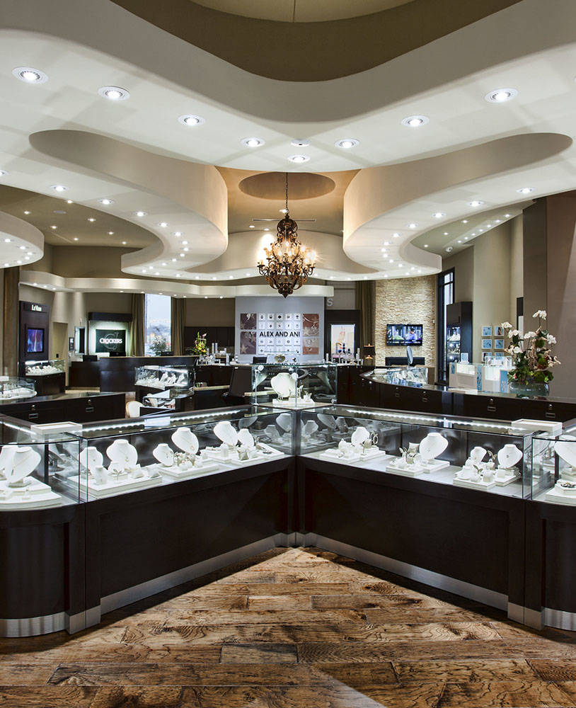 High End Jewelry Store Display Cases - Spark Retail Design