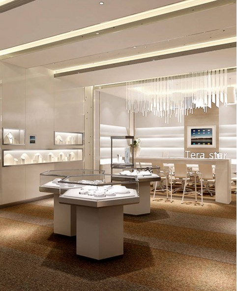 High End Custom Jewelry Store Showcase And Counter