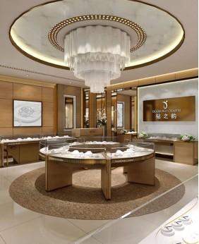 High End Custom Jewelry Showcase Display