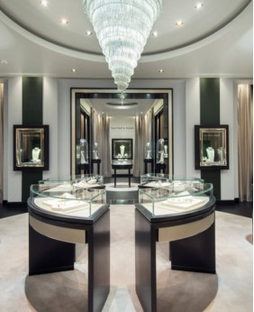 High End Jewelry Store Showcase Design