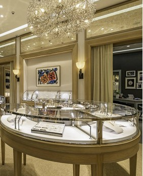 Fancy Jewelry Store Display Showcase