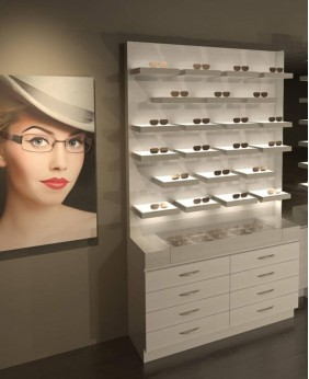 High End Retail Optical Eyewear Counter Display