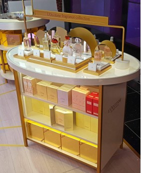 High End Retail Perfume Glass Display Stand