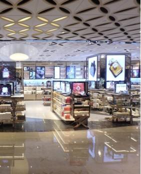 Retail Custom Perfume Shop Display Cabinet