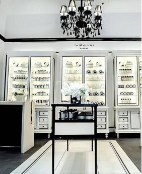 High End Retail Perfume Shelf Display