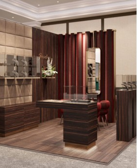 High End Jewelry Pedestal Display Glass Cases