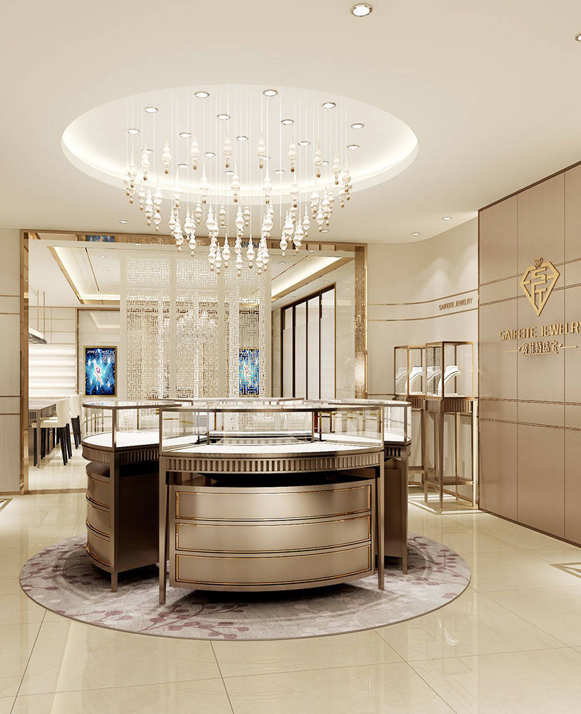 Creative High End Jewelry Store Display Showcase Design Spark
