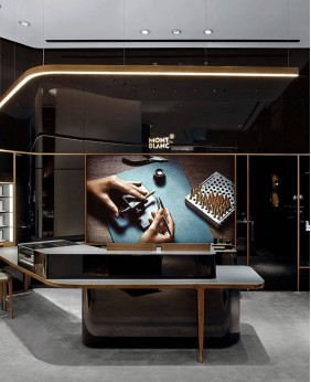 High End Wooden Watch Store Display Stands