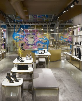 High End Creative Shoe Store Rack Display