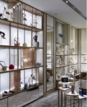 High End Creative Retail Shoe Rack Display